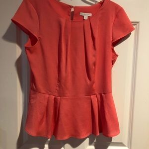 NY&Co (M) Coral color Short Sleeve Top